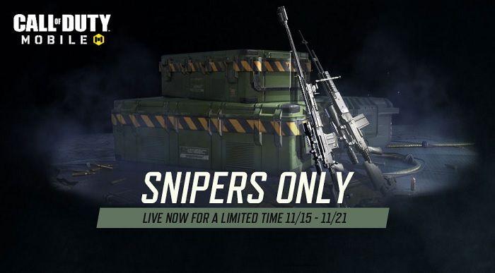 Doble experiencia en armas y evento solo para francotiradores