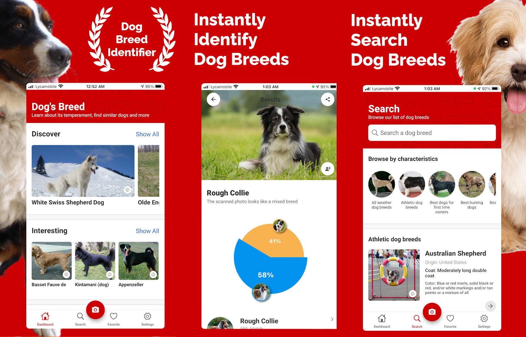 Dog Breed Identifier cuenta con un enorme archivo enciclopédico sobre todo tipo de razas de perro, incluyendo las menos conocidas