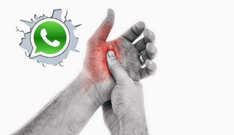 Dolor por usar WhatsApp
