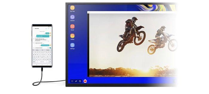 Dos pantallas samsung dex
