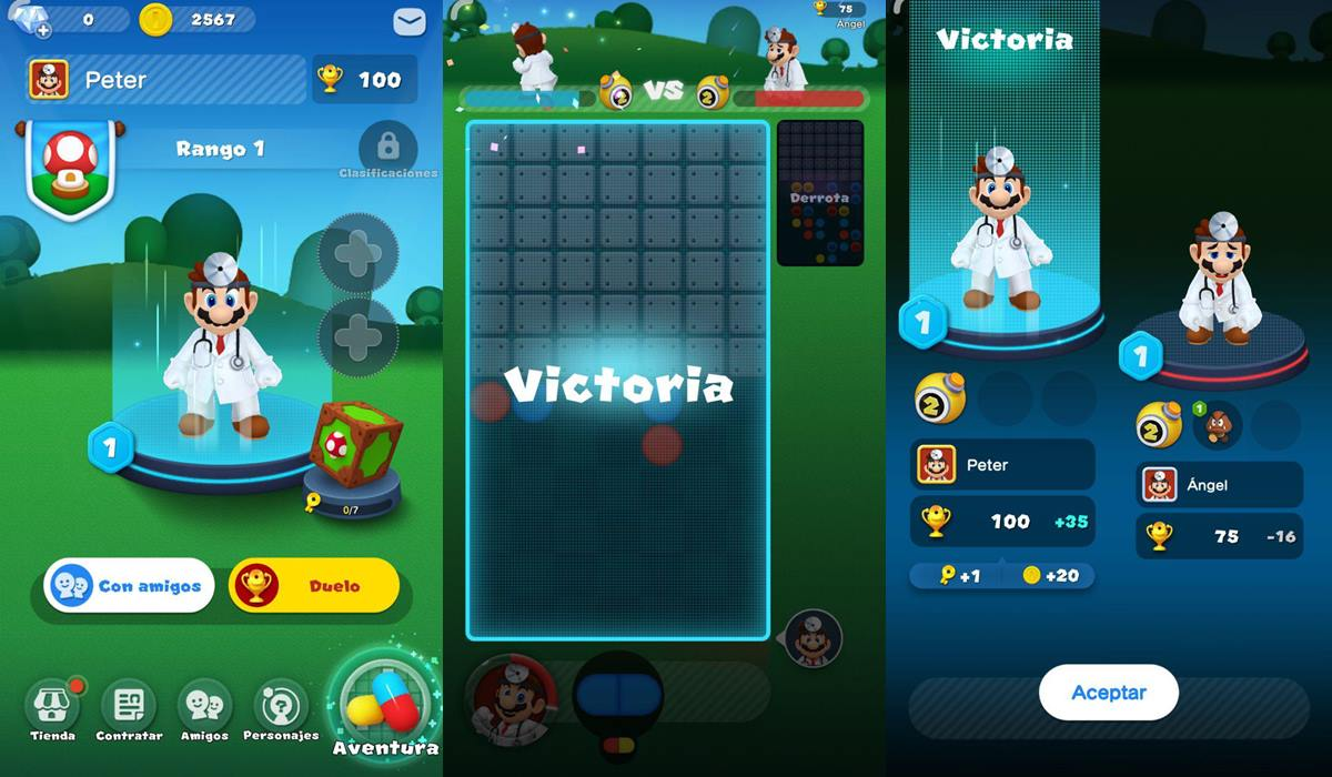 Dr. Mario World modo versus