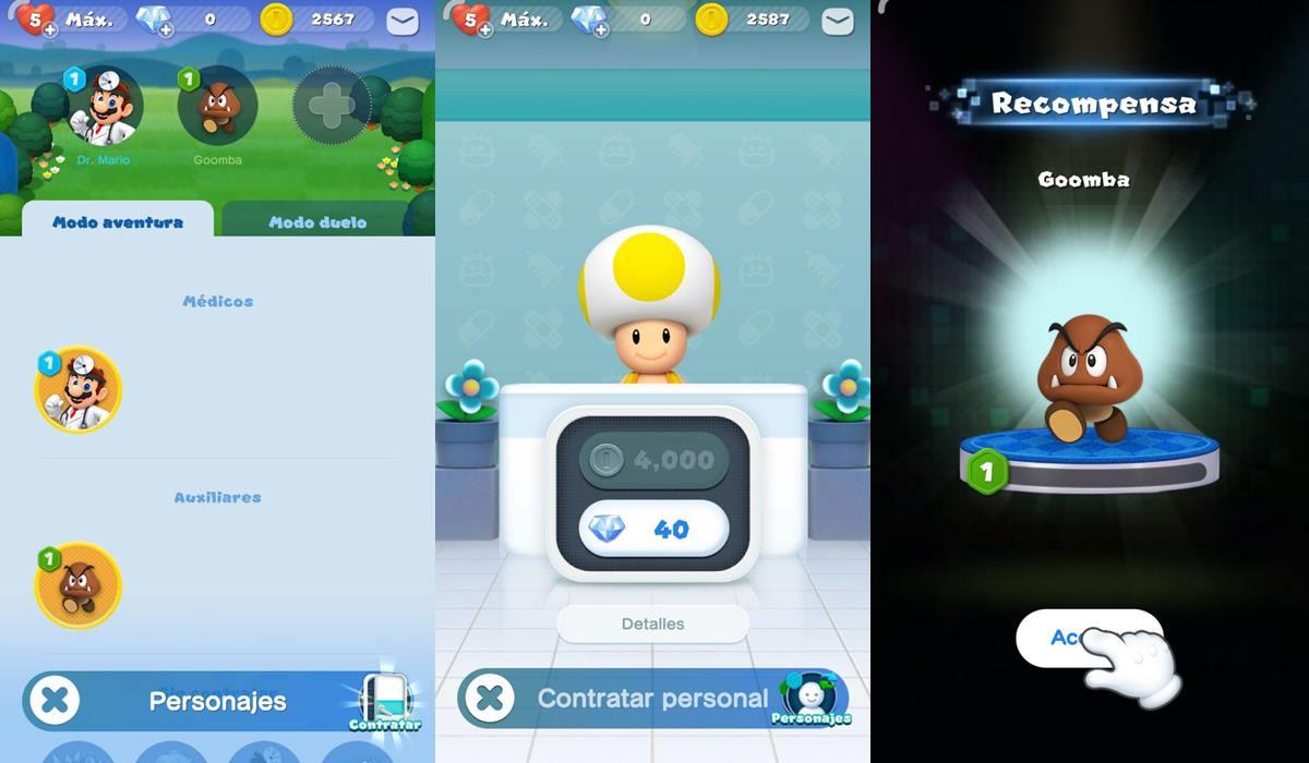 Dr. Mario World personajes