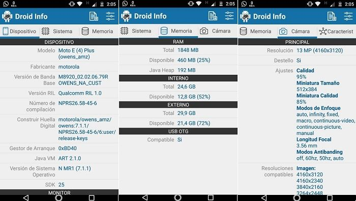 Droid Info a