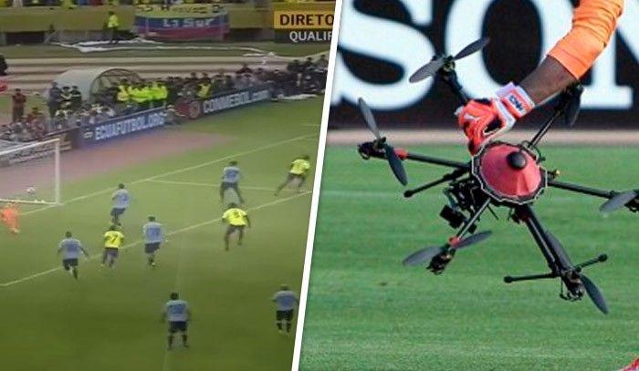Drones en un estadio de fútbol- ¿Acierto o error?
