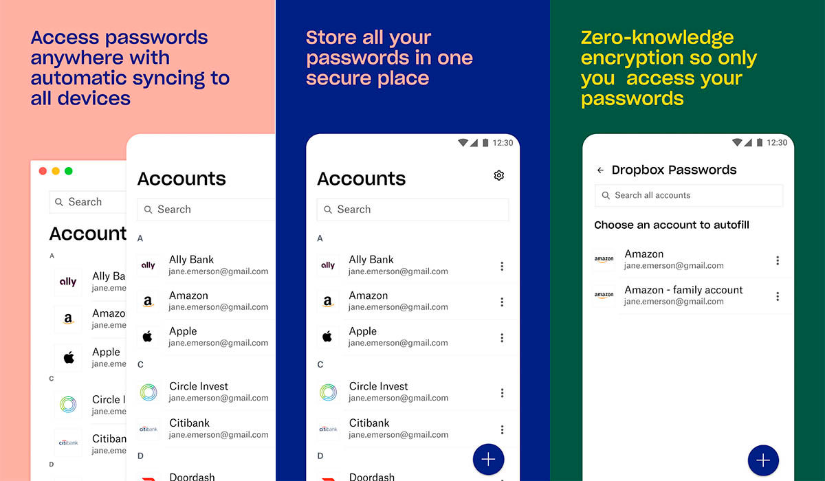 Dropbox Passwords gestor de contraseñas android ios