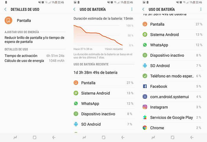 Duracion bateria Galaxy S8 uso intensivo