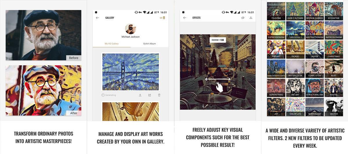 Edita tus fotos como si fueran cuadros y obras de arte con estas appa de edición de fotos para Android