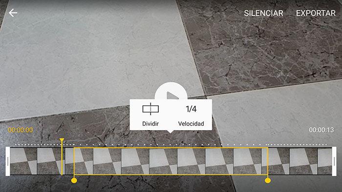 Editando vídeo a cámara lenta en Galaxy S6