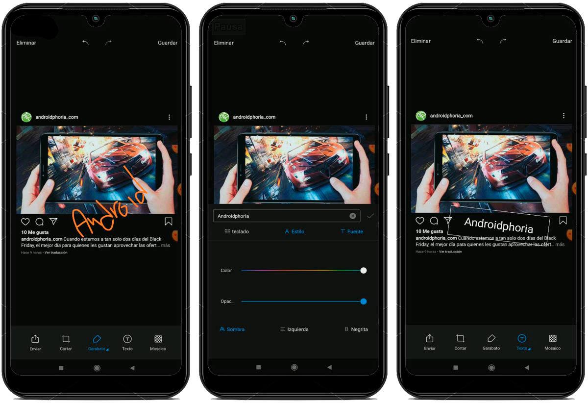 Editar capturas de pantalla en MIUI 11