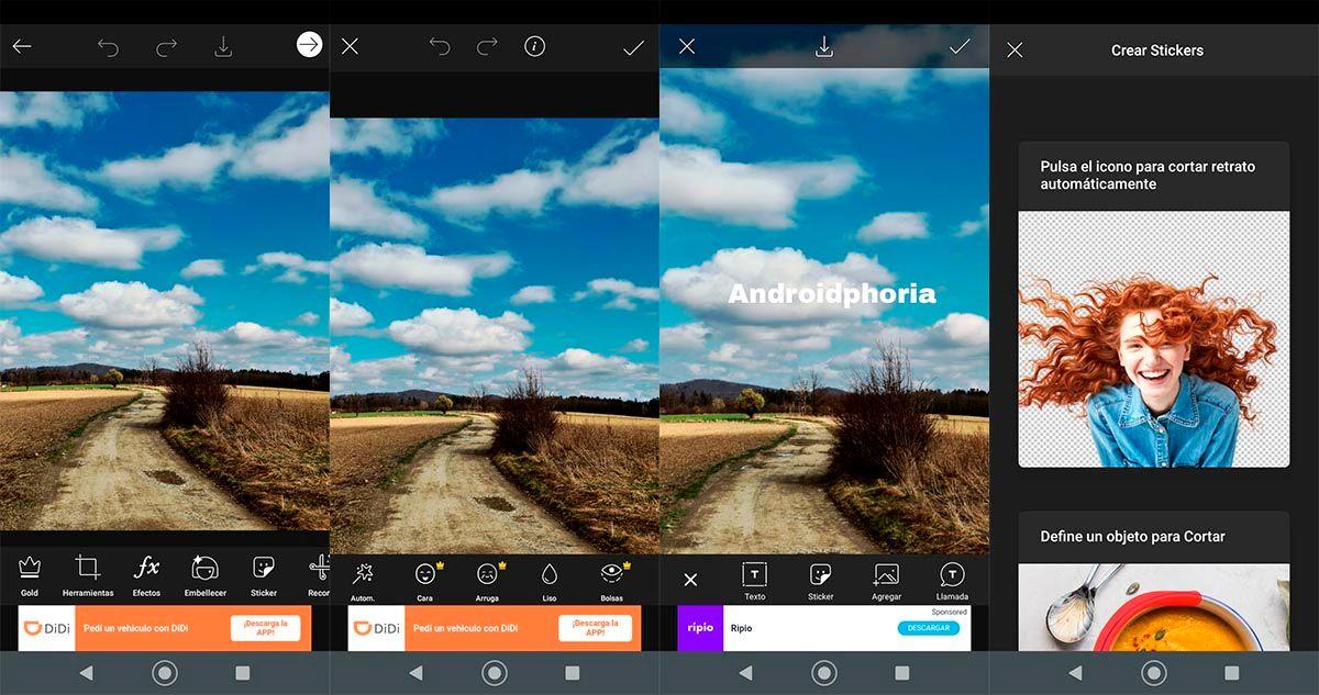 Editar fotos con Picsart