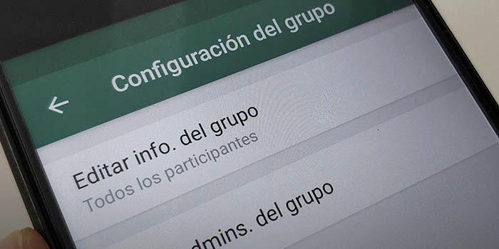Editar información grupo WhatsApp