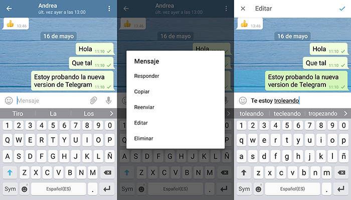 Editar mensaje Telegram
