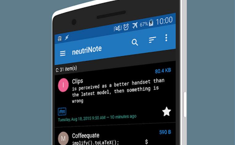 Editor de LaTeX y Markdown para Android