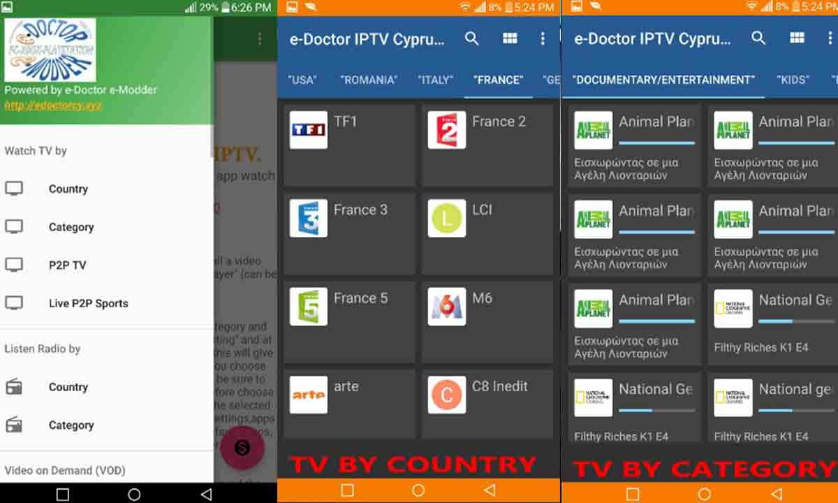 Edoctor IPTV ver tele gratis