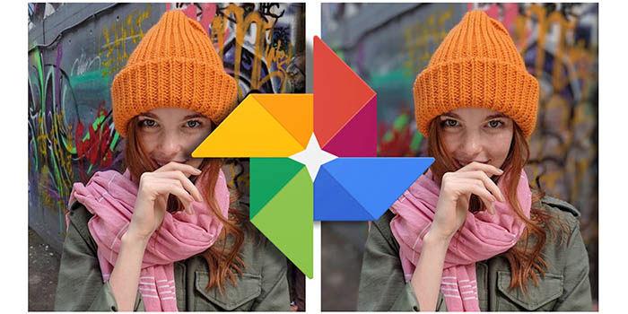 Efecto bokeh en Google Fotos