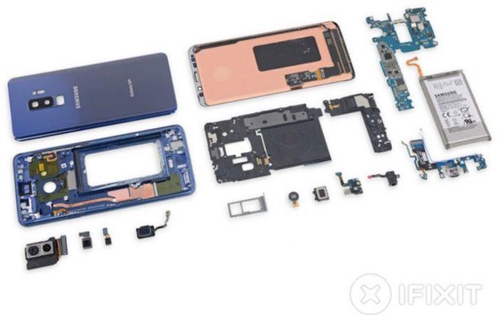 El Galaxy S9+ no es facil de reparar