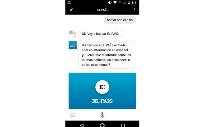 El País en Google Assistant