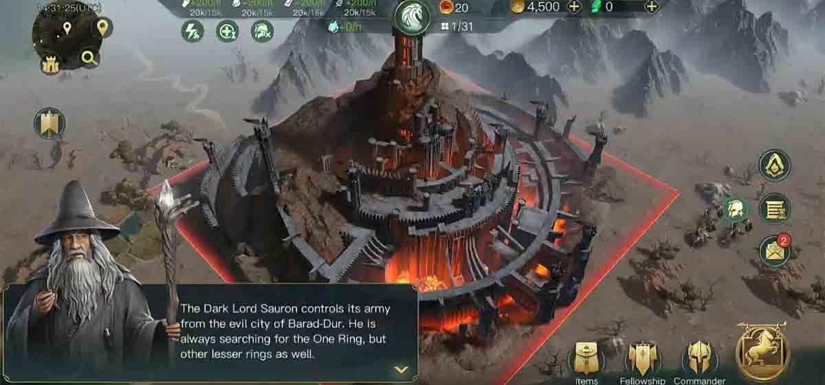 El Señor de los Anillos: que comience la batalla Android