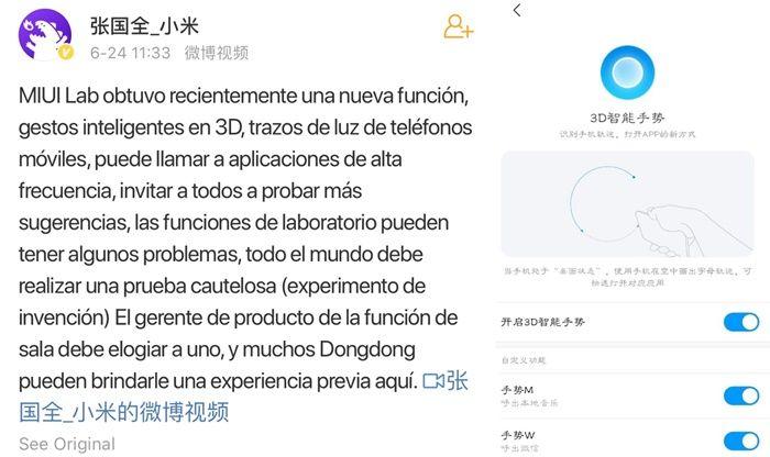 El control por movimientos llega a Xiaomi