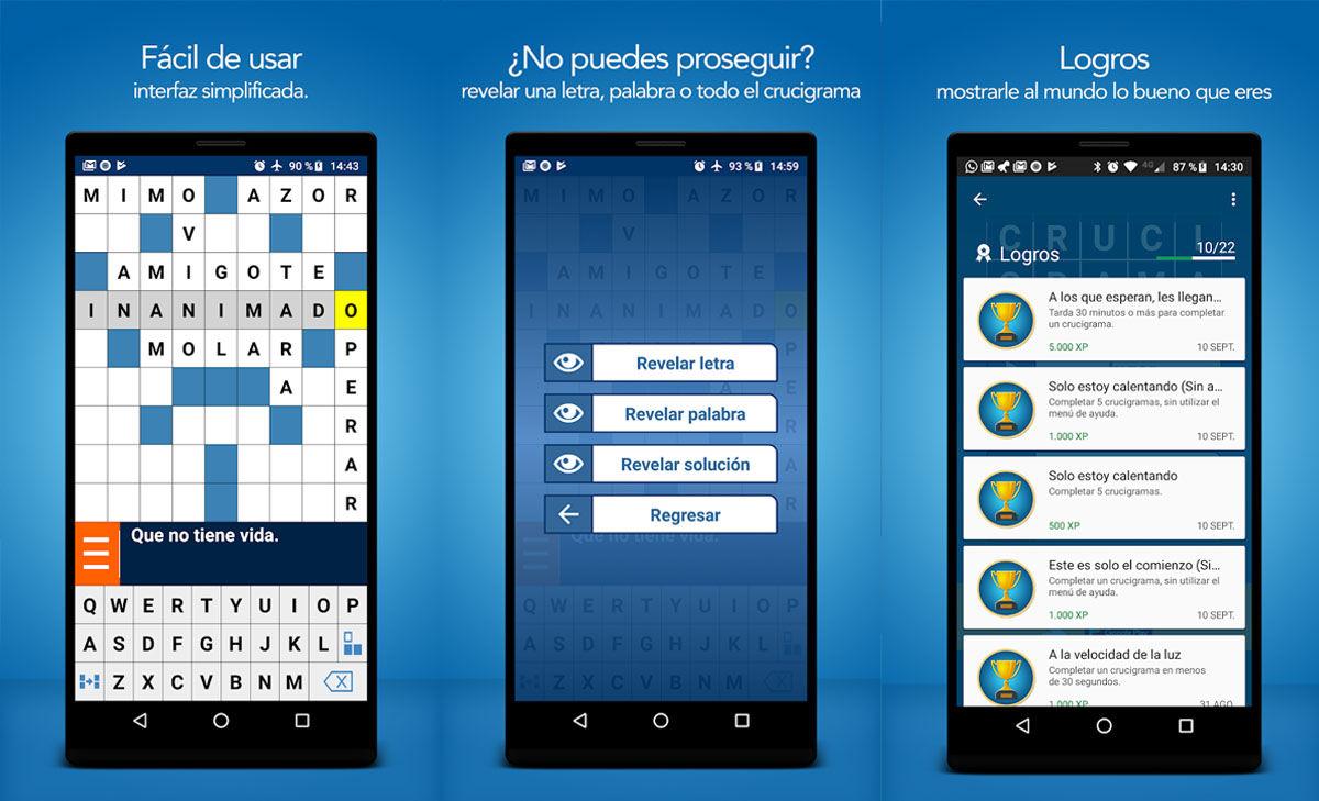 El juego para hacer crucigramas gratis para Android más accesible de la Play Store