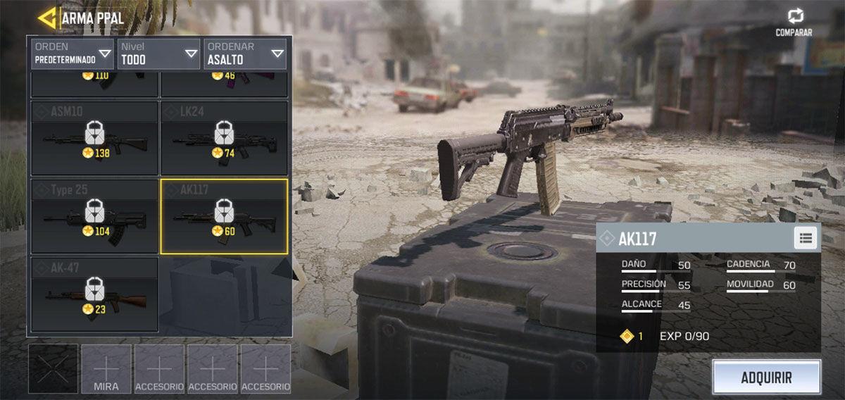El mejor rifle de asalto de Call of Duty Mobile