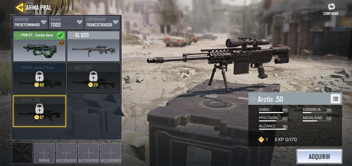 El mejor rifle francotirador de Call of Duty Mobile
