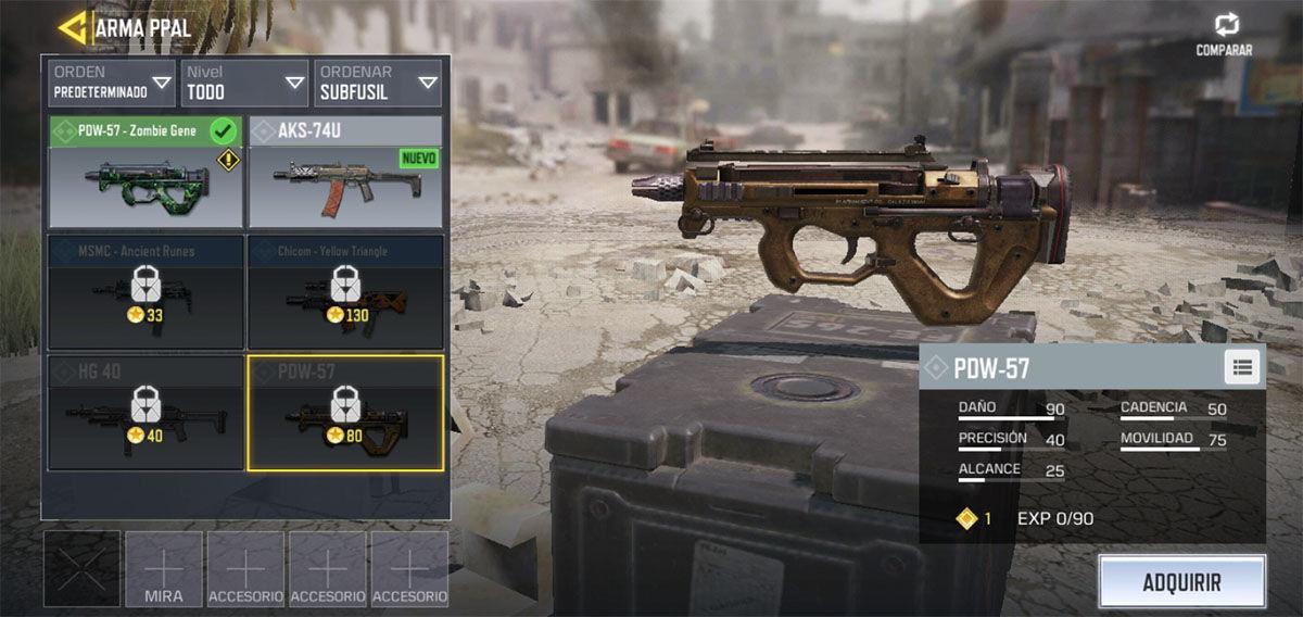 El mejor subfusil de Call of Duty Mobile