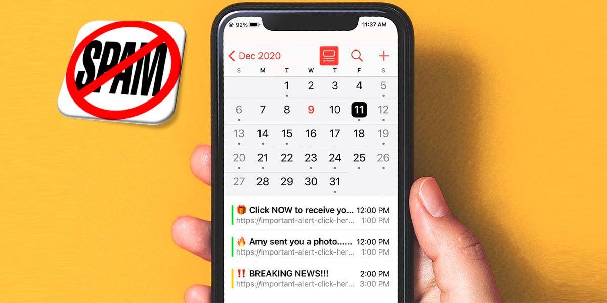 Eliminar SPAM calendario iPhone