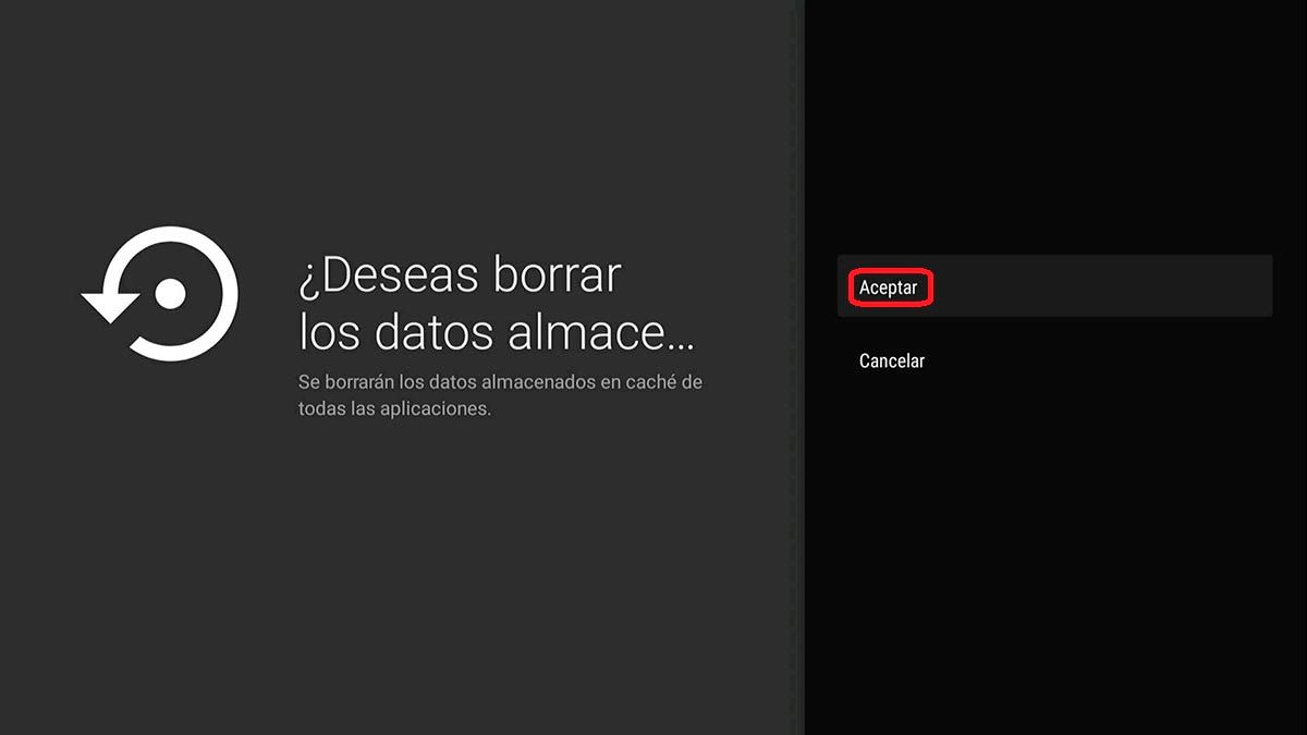 Eliminar cache Android TV