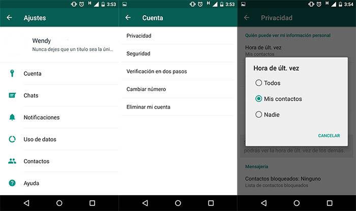 Eliminar la ultima conexion de WhatsApp