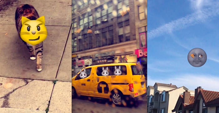 Emojis movimiento Snapchat