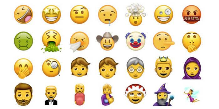 Emojis nuevos 2017