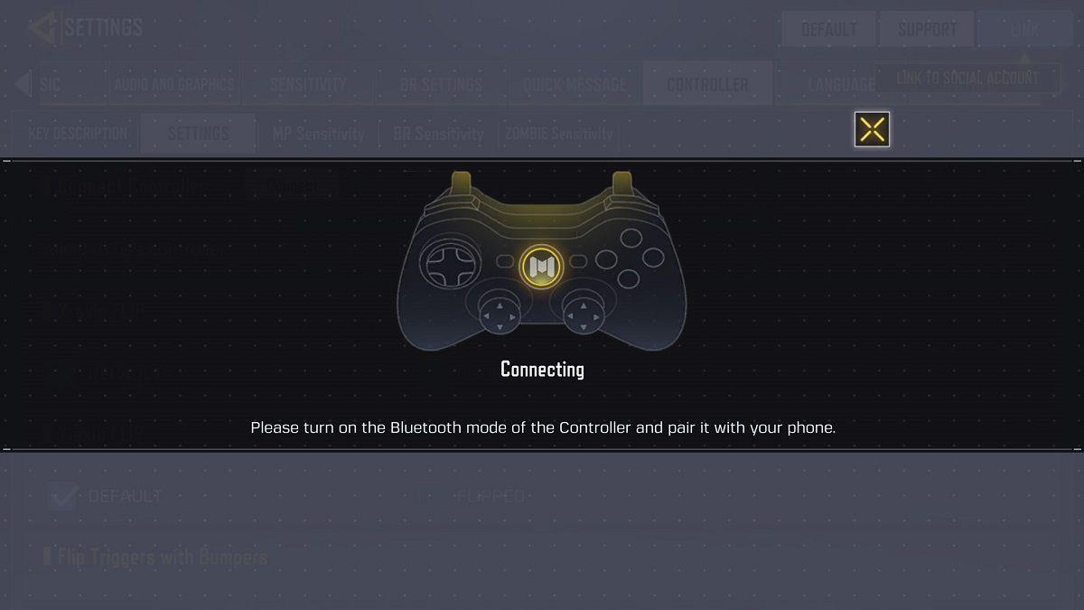 Emparejamiento de mando de Xbox One en COD Mobile