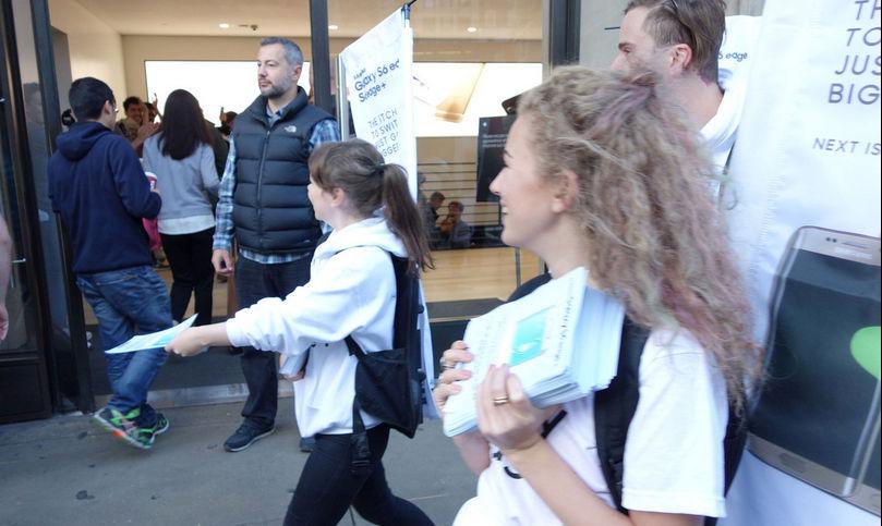 Empleados de Samsung sabotean el lanzamiento del iPhone 6s en Londres