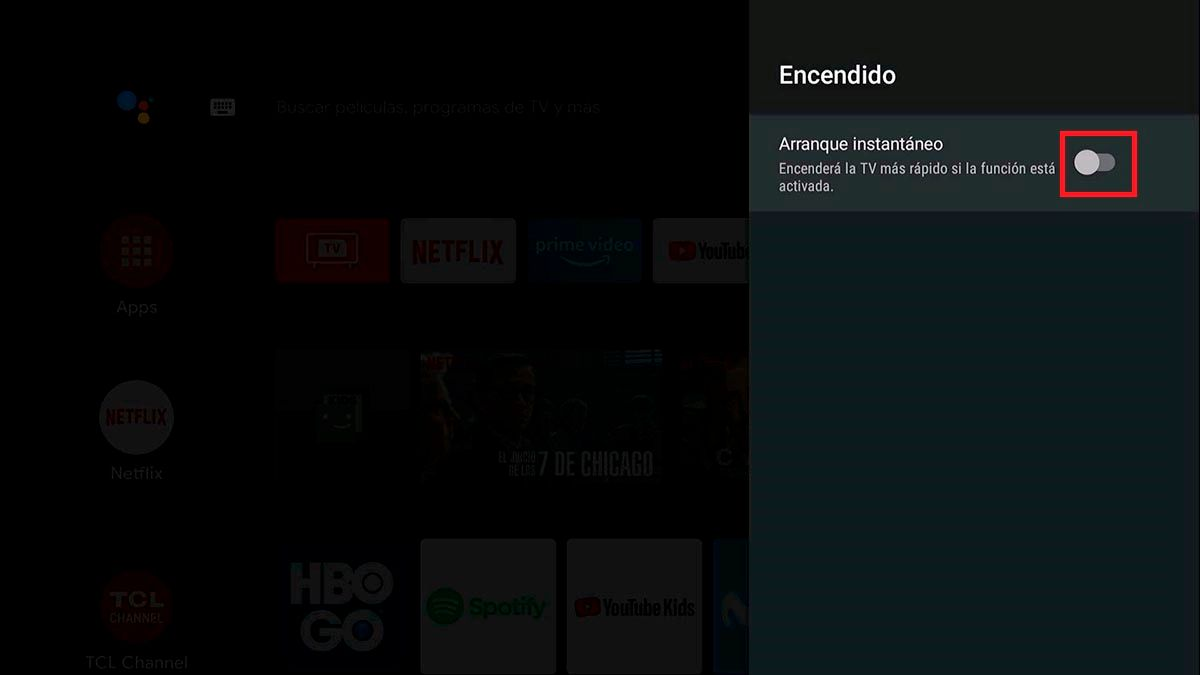 Encender mas rapido Android TV