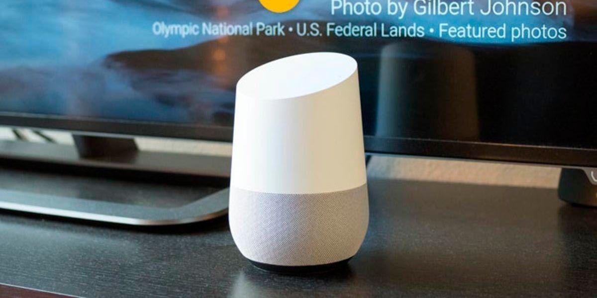 Encender o apagar TV con altavoz inteligente asistente de Google