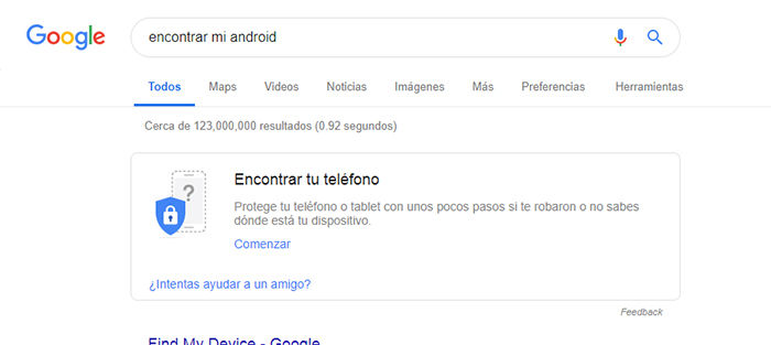 Encontrar mi Android