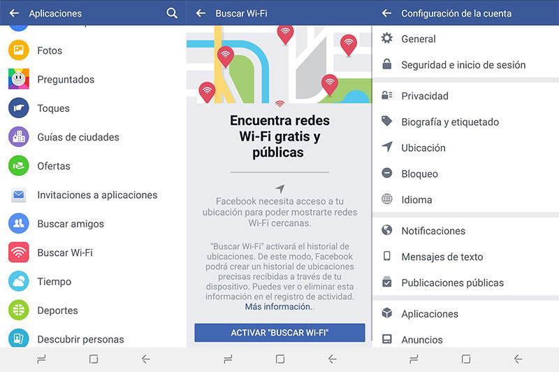 Encontrar redes WiFi Facebook