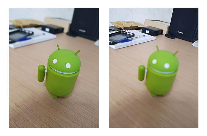 Enfoque selectivo Galaxy S8