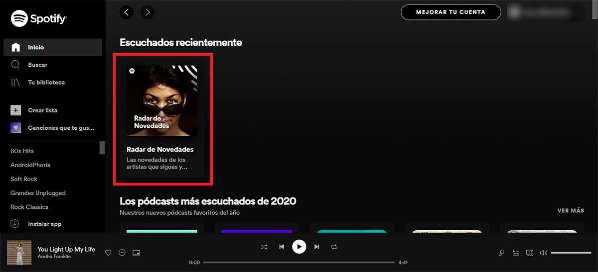 Entra en Spotify desde el PC