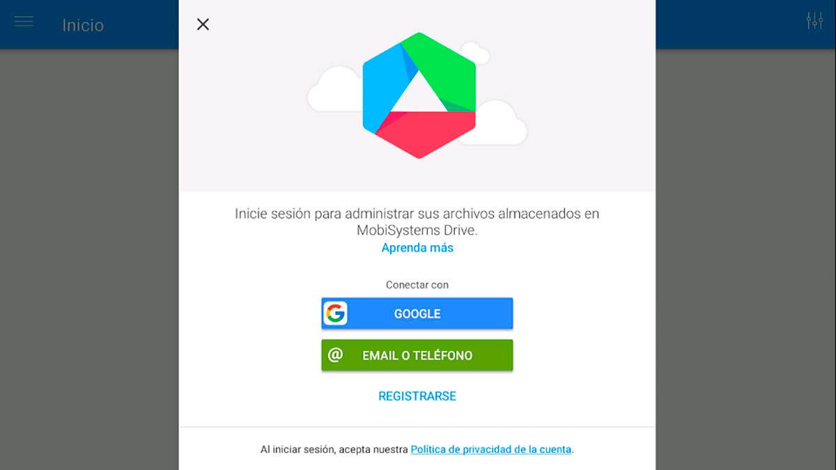 Entrar en Drive desde File Commander Android TV