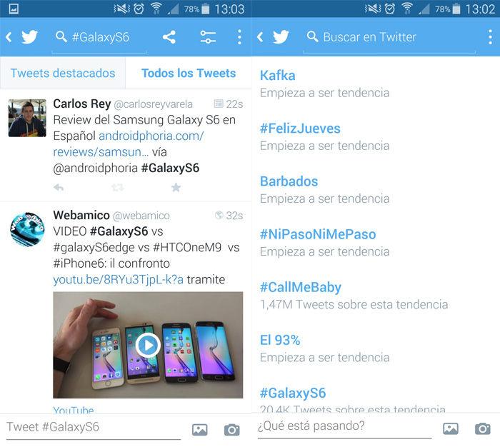 Entrar en las tendencias de Twitter desde Android