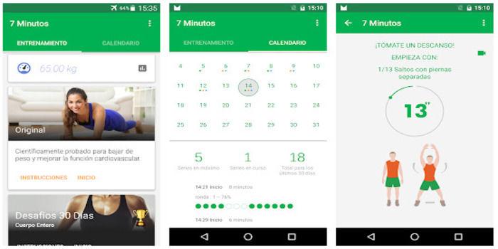 Entrenamiento en 7 minutos desde casa app