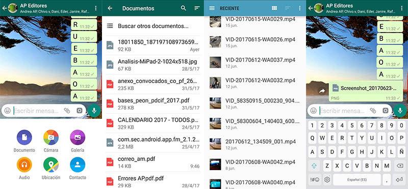 Enviar archivos WhatsApp sin comprimir