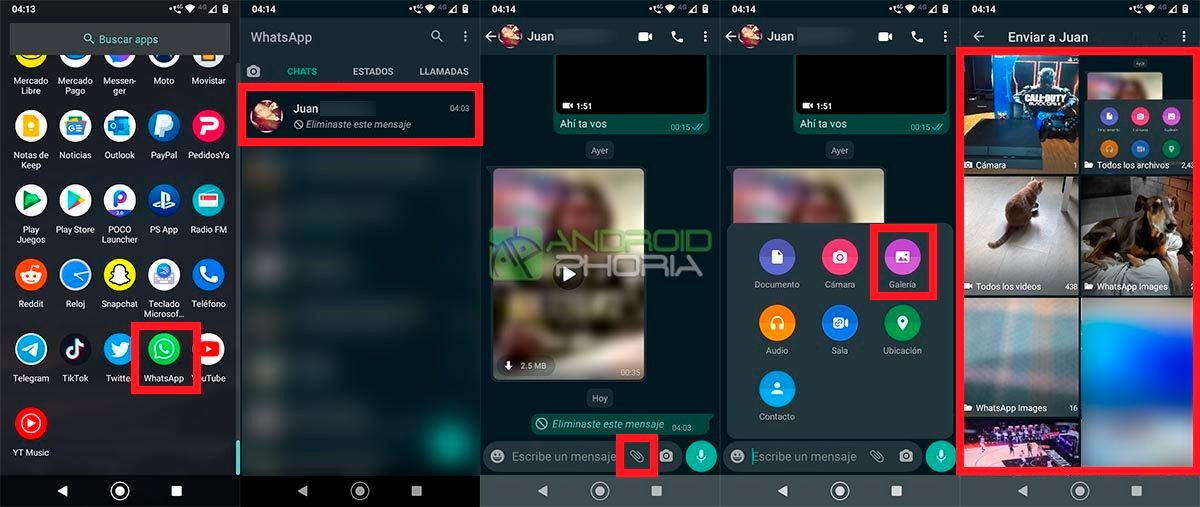 Enviar foto para ver una sola vez WhatsApp