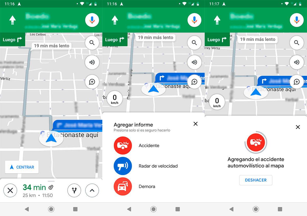 Enviar informe Google Maps