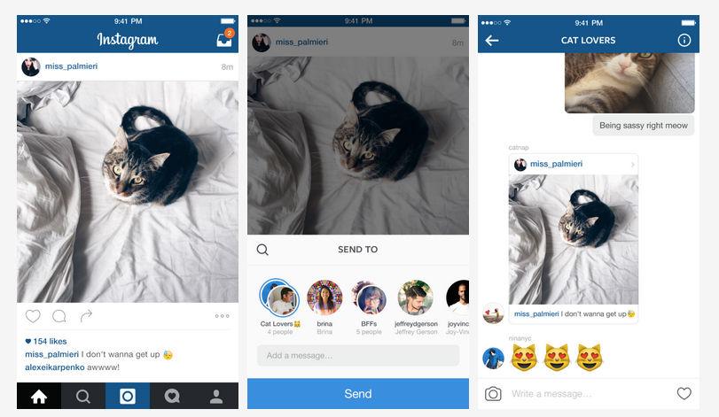 Enviar mensajes directos en Instagram más cerca