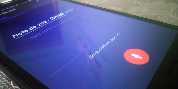Enviar notas de voz por Gmail