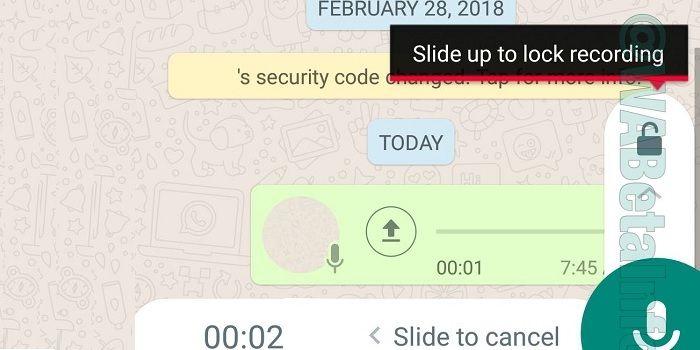 Enviar notas de voz sin mantener pulsado en WhatsApp