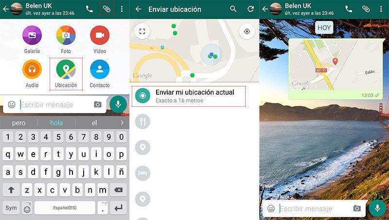 Enviar ubicación WhatsApp
